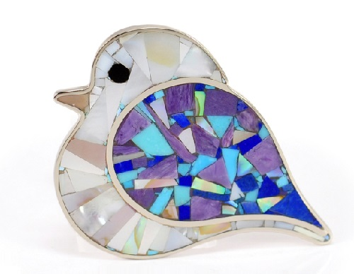 Bird Brooch. Ariel Mosaic jewellery