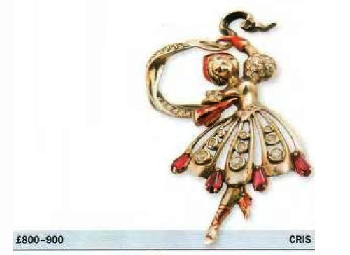 Brooch Russian beauty