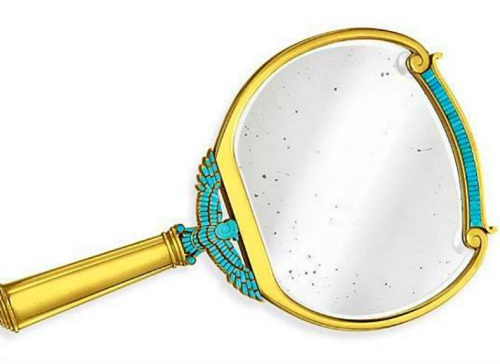 'Cleopatra Mirror' - gold and turquoise mirror from BVLGARI