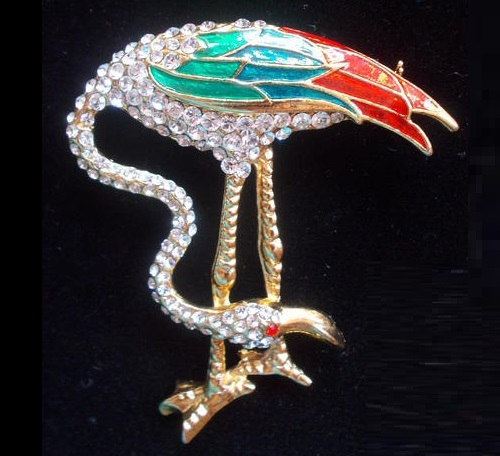 Collectible Rarity D'orlan brooch Flamingo, Canada 1980