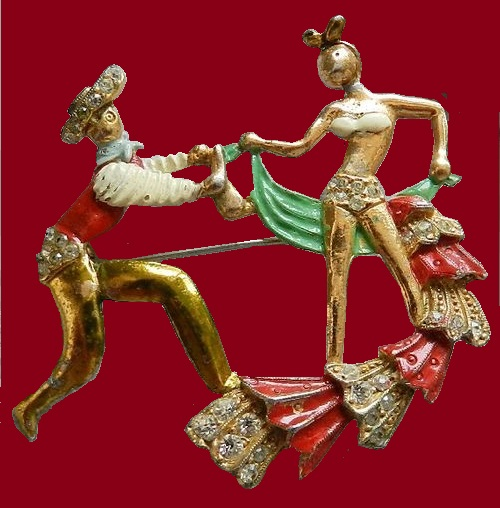 Dance. Vintage brooch