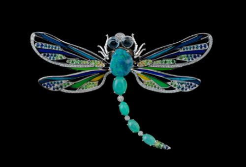Dragonfly brooch by Master Exclusive Jewelry House, Russia