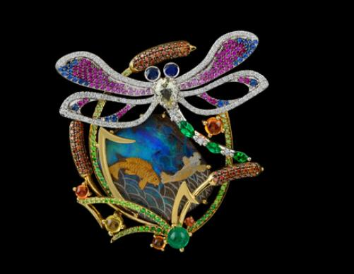 Dragonfly brooch. Master Exclusive Jewelry House, Russia