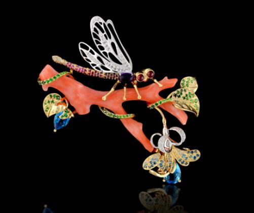 Dragonfly on a tree. Master Exclusive Jewelry House, Russia