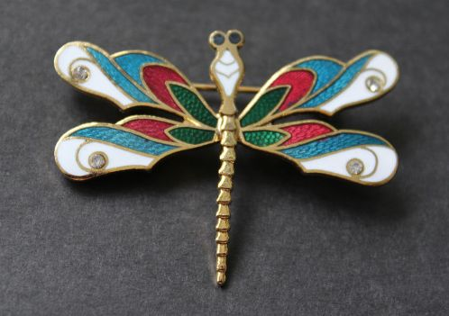 Japanese vintage brooch Dragonfly