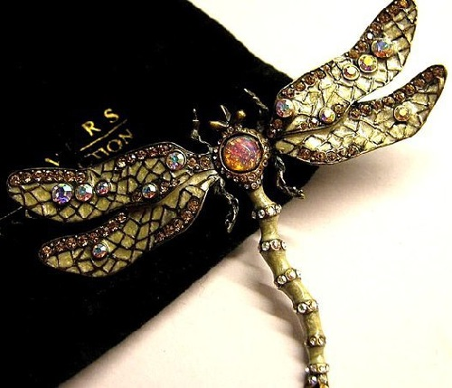 Joan Rivers brooch Dragonfly