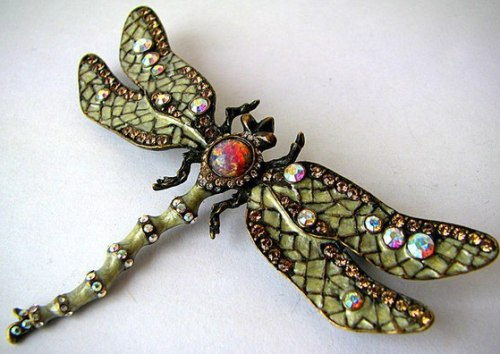 Joan Rivers vintage brooch Dragonfly
