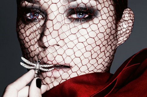 Dragonfly jewellery symbolism. Marion Cotillard For the December issue of the British edition of the magazine Harper's Bazaar. Photo September 2012. Photographer Ben Hassett