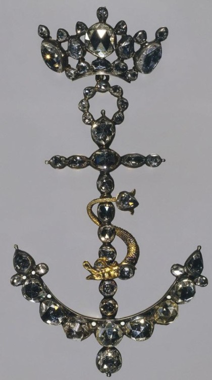 Diamond Pendant Anchor. The Netherlands, 1700. The State Hermitage museum, St. Petersburg, Russia