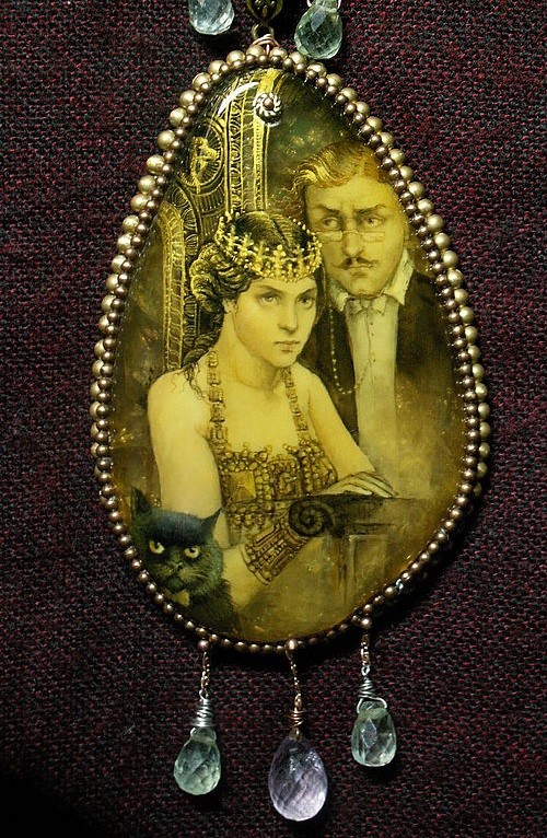 Pendant from the series 'Master and Margarita'. Scene of the beginning of the ball at Woland's