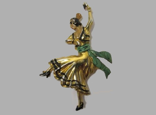Samba dance brooch