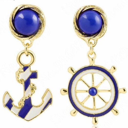 Earrings - Ship's Wheel and Anchor