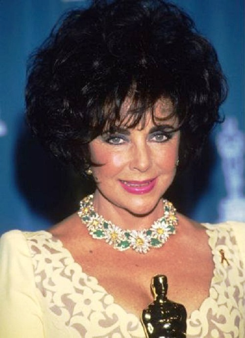 1993. Elizabeth Taylor at the Academy Awards ceremony