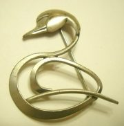Art Deco Swan Brooch