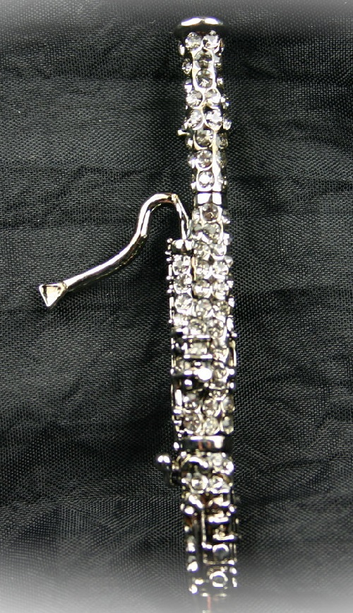 Bassoon Crystal Pin