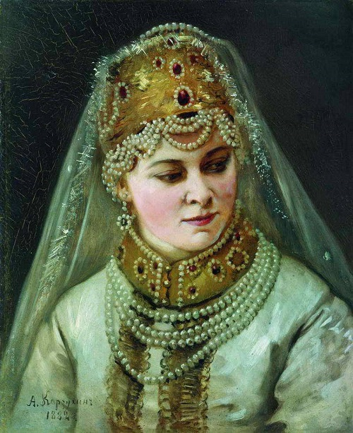 Russian pearl jewellery