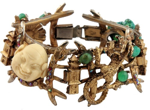 Bracelet from the series Laughing Chinese. Marked Har