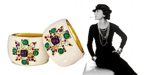 Bracelets with Maltese cross, made for Coco Chanel