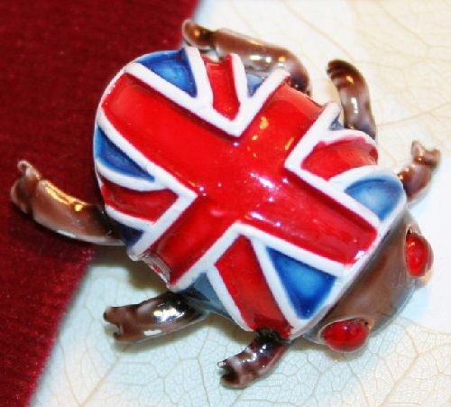 British Beatle. Jewellery made of durable alloy coated with enamel. Exotic and rare HAR Jewellery