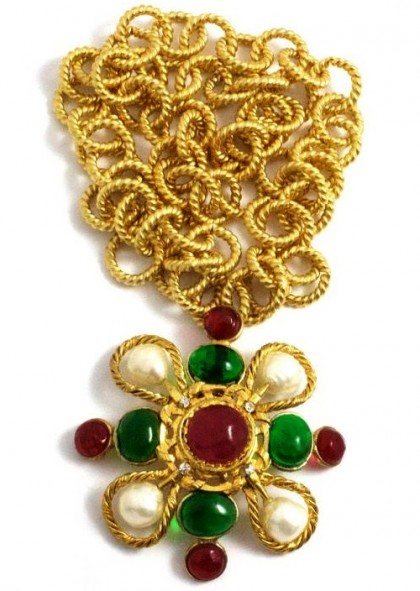 Exquisite Byzantine style Coco Chanel jewellery