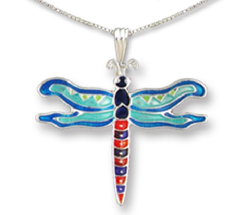 Calypso Dragonfly Pendant by Judith Geiger