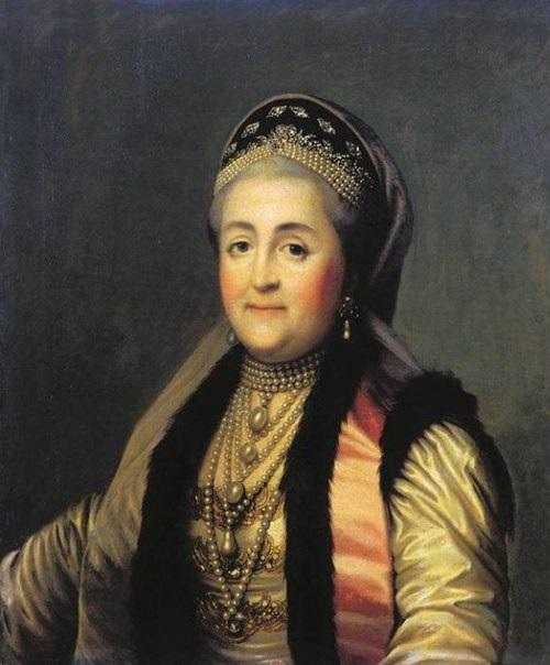 Catherine the Great in kokoshnik, 1772