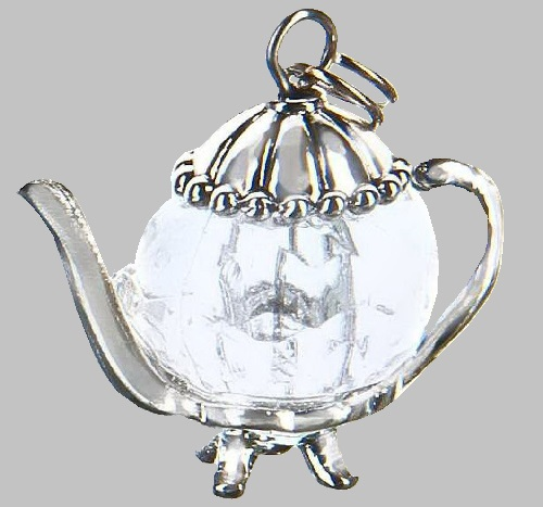 Clear Teapot Charm by Ganz