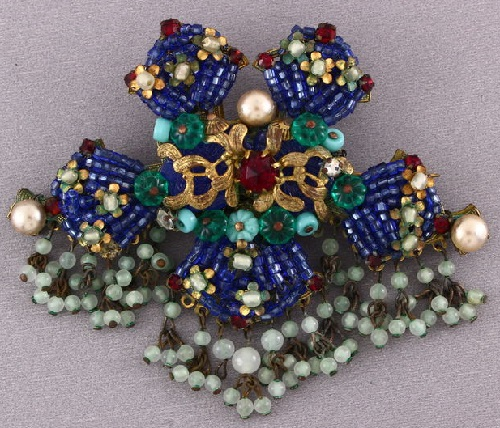 Eugene costume jewelry, rare vintage brooch, 1950 US