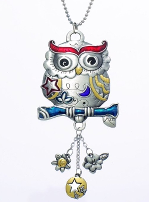 Ganz Owl Color Art Car Charm