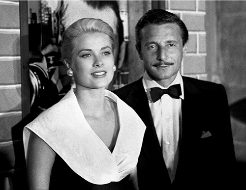 Grace Kelly and Oleg Cassini at the Premiere of Rear Window, 1954