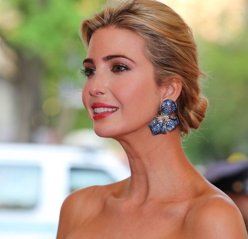 Ivanka Trump wearing earrings by Cindy Chao at the traditional Costume Ball in New York City in 2015