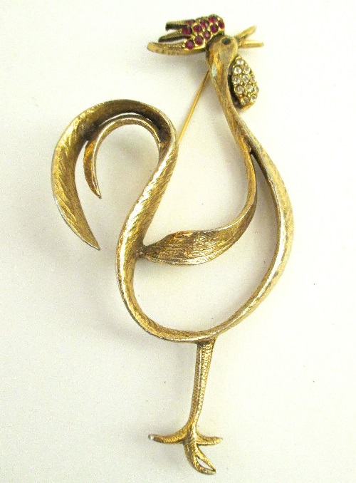 Jeanne vintage brooch Cockerel, 1960s