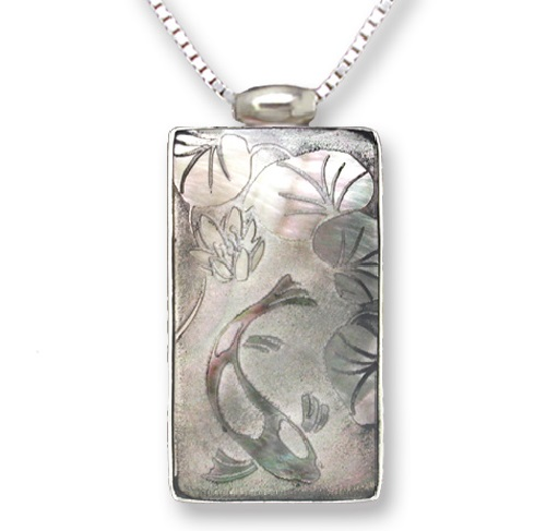Koi Pond Necklace by Joyce Bond Backus