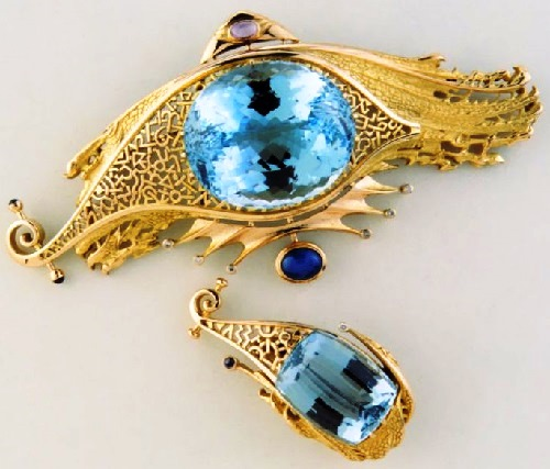 Lake of Dreams brooch and a ring