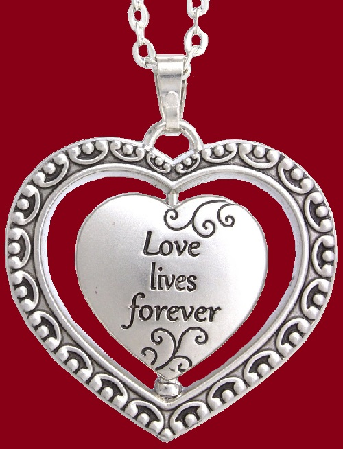 Love loves forever. Heart pendant