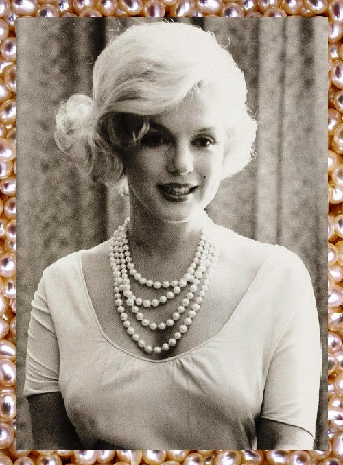 Marilyn's best friends, pearls