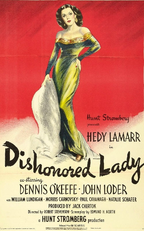 Movie poster Dishonored Lady, 1947