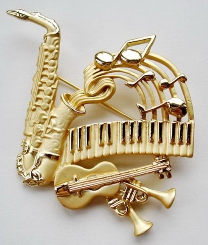Inspired by Musical instruments in jewellery