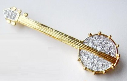Banjo. Musical instruments in jewellery
