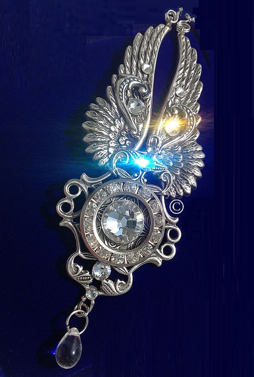 My angel. Steampunk pendant, necklace