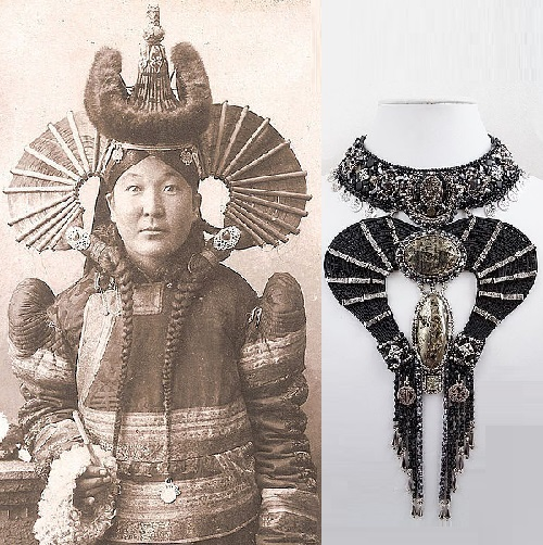 Necklace 'Mongolian woman'