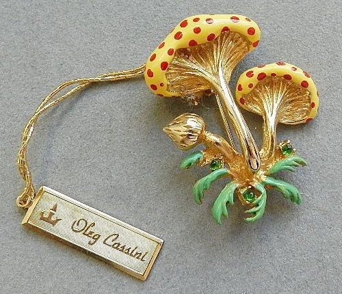 Oleg Cassini 1964 marked vintage brooch