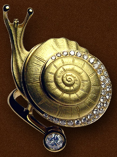 Ring Snail. Jeweler Eduard Nikitin