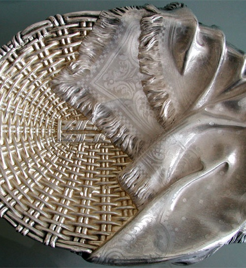 Russian Silver Bread Basket by Ovchinnikov 1873