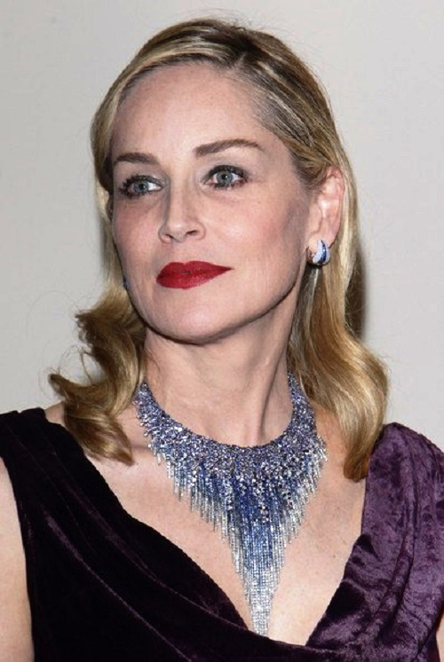 Sharon Stone in 'Medusa' necklace