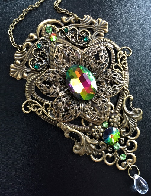 Steampunk pendant, necklace