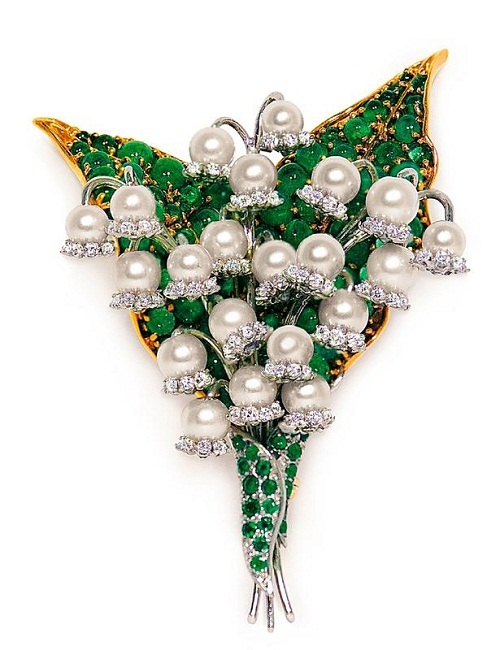 Verdura high jewellery. Lily of the Valley brooch