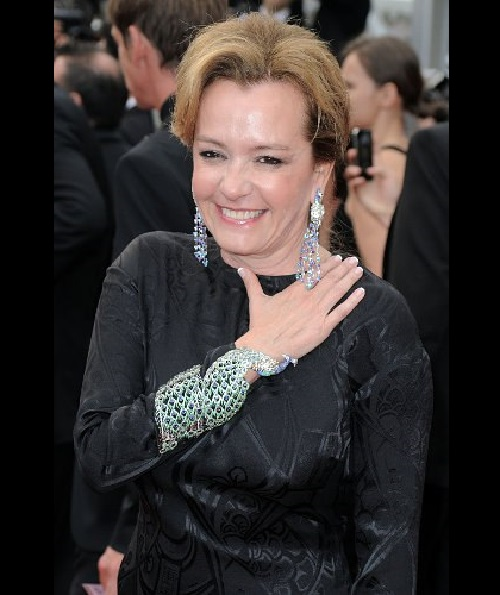 Vice-president of the jewelry company Chopard Caroline Gruosi-Scheufele at the Cannes festival.