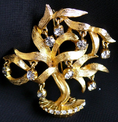 Vintage brooch of 1960s