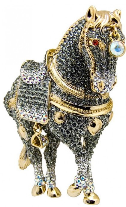 Horse (17 February 2026), Element fire. Butler & Wilson horse brooch